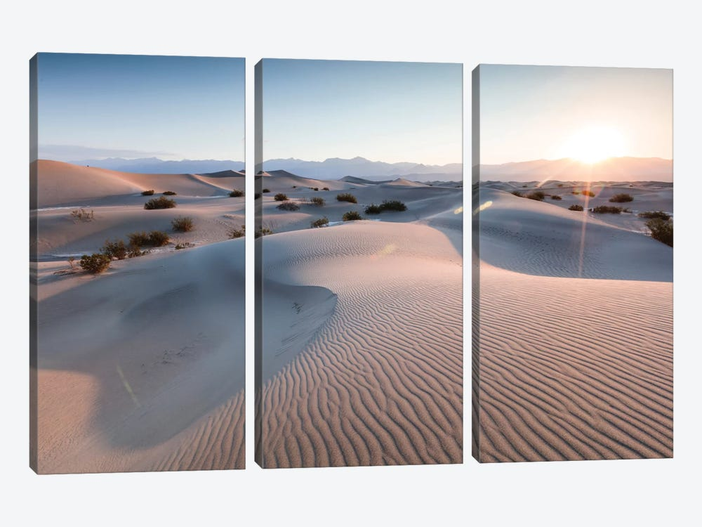 Mesquite Flat Sand Dunes At Sunrise, Death Valley, Death Valley National Park, California, USA by Matteo Colombo 3-piece Canvas Artwork