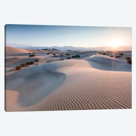 Mesquite Flat Sand Dunes At Sunrise, Death Valley, Death Valley National Park, California, USA Canvas Print #TEO59} by Matteo Colombo Art Print