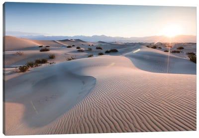Mesquite Flat Sand Dunes At Sunrise, Death Valley, Death Valley National Park, California, USA Canvas Art Print