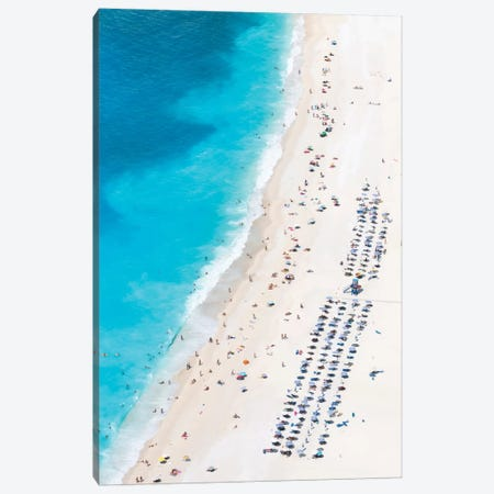 Aerial View Of Myrtos Beach III, Cephalonia, Ionian Islands, Greece Canvas Print #TEO5} by Matteo Colombo Canvas Artwork