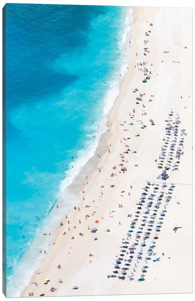 Aerial View Of Myrtos Beach III, Cephalonia, Ionian Islands, Greece Canvas Art Print