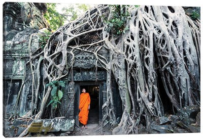 Monk At Angkor Wat, Cambodia Canvas Art Print