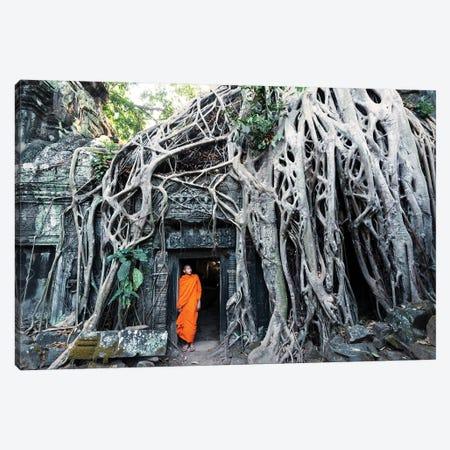 Monk At Angkor Wat, Cambodia Canvas Print #TEO608} by Matteo Colombo Canvas Art