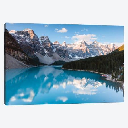 Moraine Lake Sunrise, Banff National Park 3-Piece Canvas #TEO611} by Matteo Colombo Canvas Print