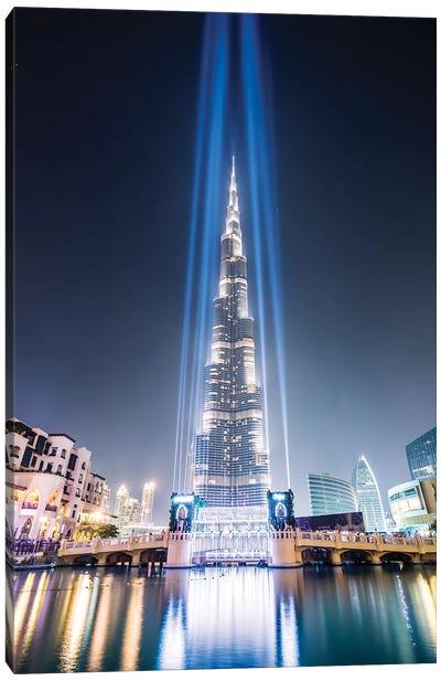 Night At Burj Khalifa, Dubai Canvas Art Print
