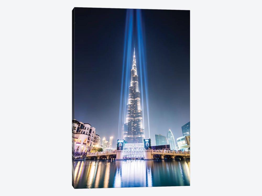 Night At Burj Khalifa, Dubai by Matteo Colombo 1-piece Canvas Print