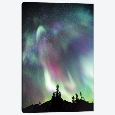 Northern Lights And Milky Way, Canada Canvas Print #TEO613} by Matteo Colombo Canvas Print