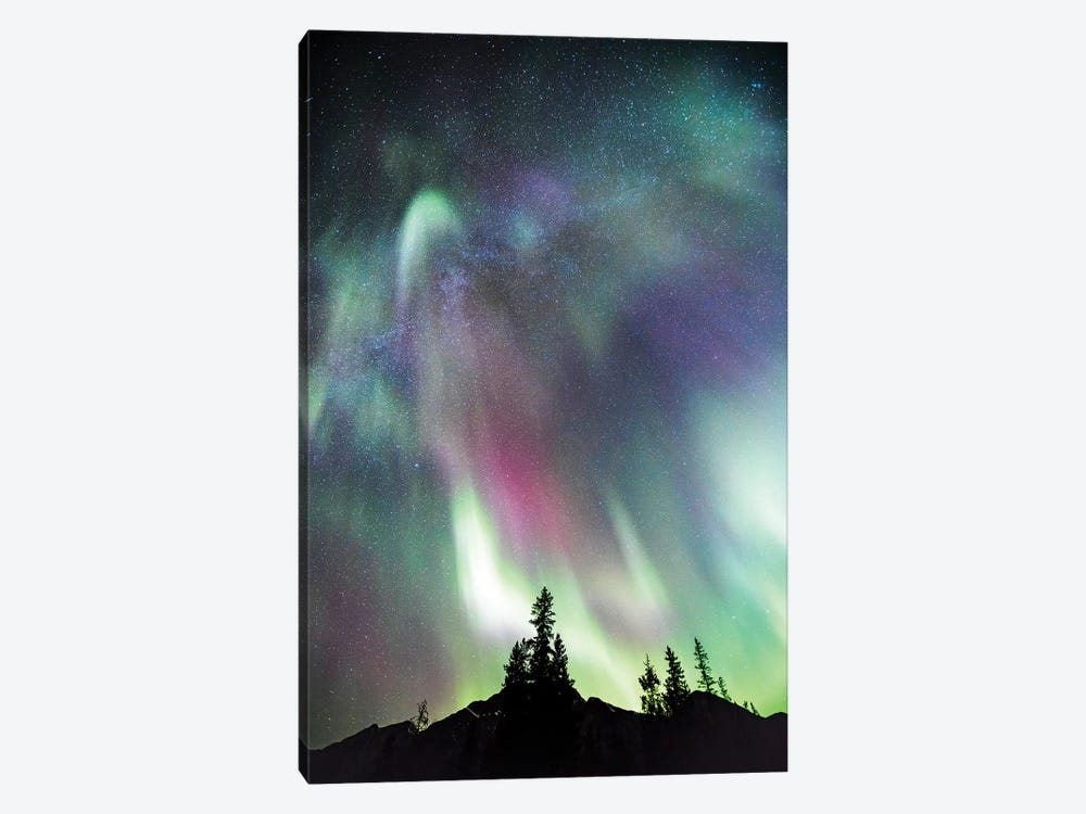 Northern Lights And Milky Way, Canada by Matteo Colombo 1-piece Canvas Art