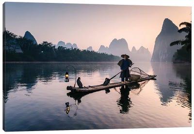 Old Chinese Fisherman Canvas Art Print