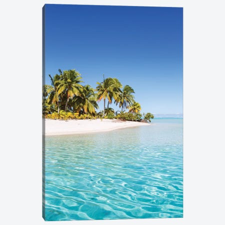 One Foot Island, Aitutaki, Cook Islands Canvas Print #TEO616} by Matteo Colombo Canvas Art