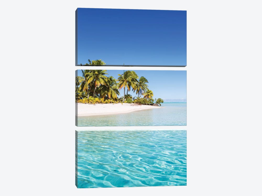 One Foot Island, Aitutaki, Cook Islands by Matteo Colombo 3-piece Canvas Print