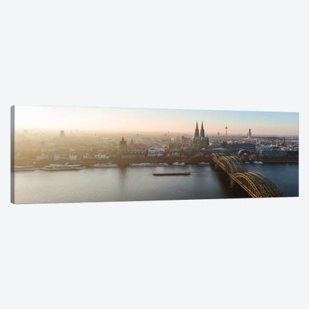 Panoramic Of Cologne Skyline, Germany Canvas Print #TEO618} by Matteo Colombo Canvas Art Print