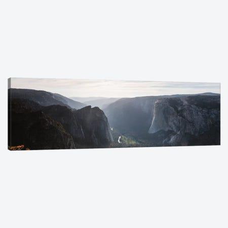 Panoramic Of Taft Point, Yosemite, USA Canvas Print #TEO620} by Matteo Colombo Canvas Wall Art