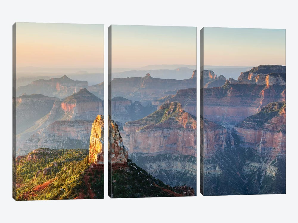 Point Imperial, Grand Canyon by Matteo Colombo 3-piece Canvas Art