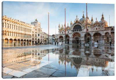 St Mark's Square Flooded, Venice, Italy Canvas Art Print