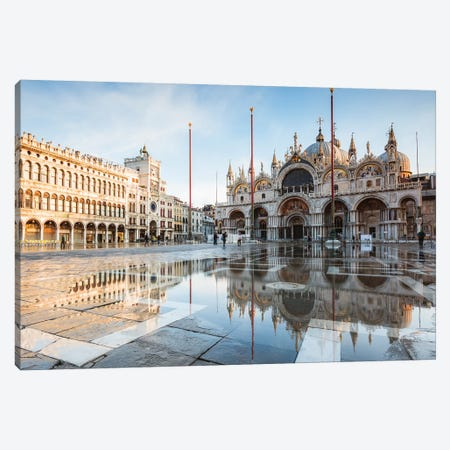 St Mark's Square Flooded, Venice, Italy Canvas Print #TEO630} by Matteo Colombo Art Print
