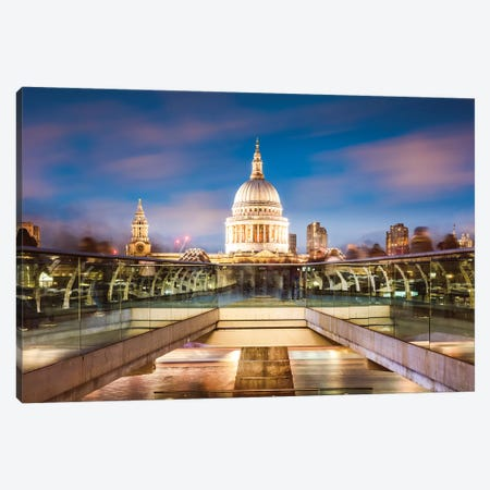 St Paul's Cathedral At Dusk, London Canvas Print #TEO631} by Matteo Colombo Canvas Print