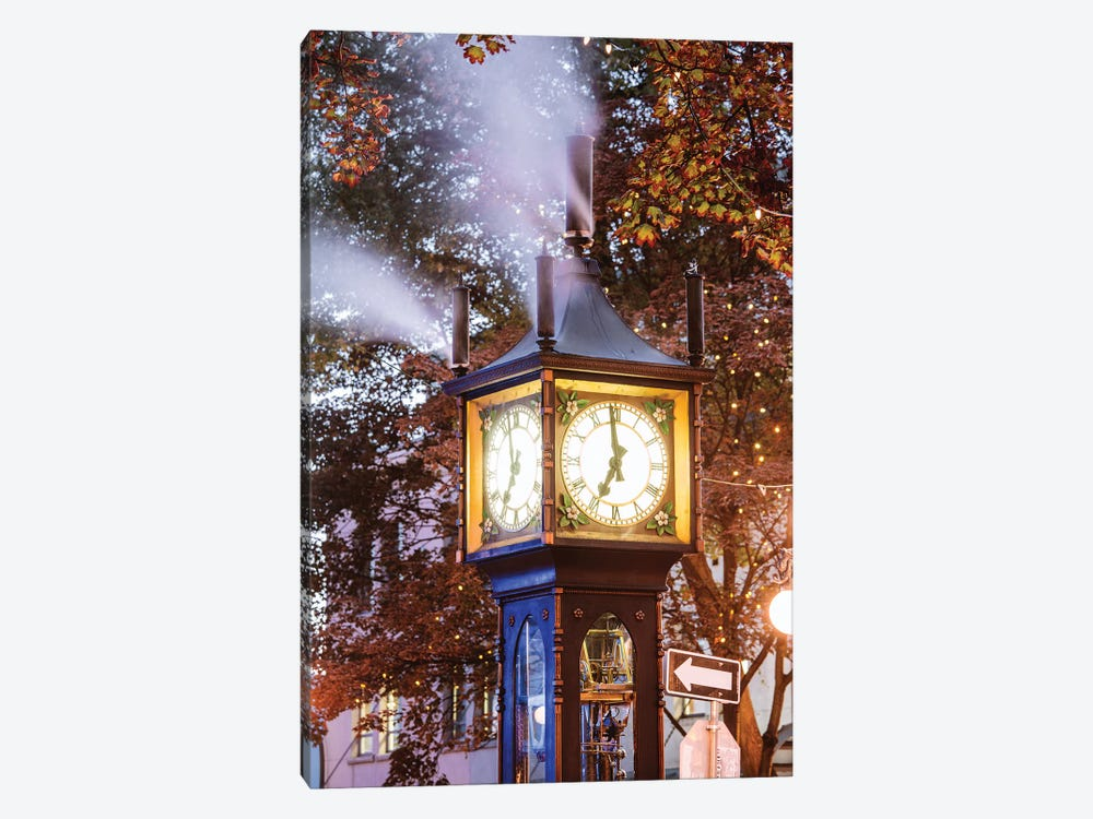 Steam Clock,Vancouver, Canada II by Matteo Colombo 1-piece Canvas Art Print