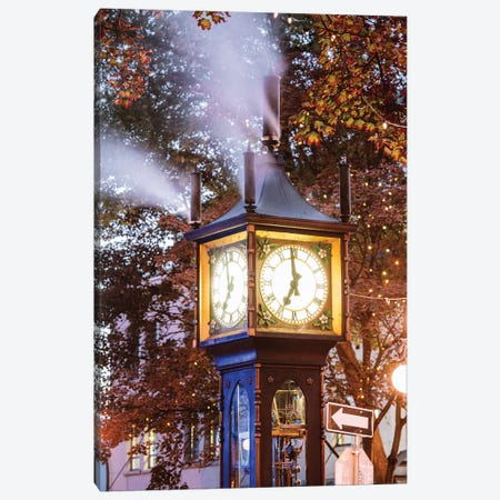 Steam Clock,Vancouver, Canada II Canvas Print #TEO632} by Matteo Colombo Art Print