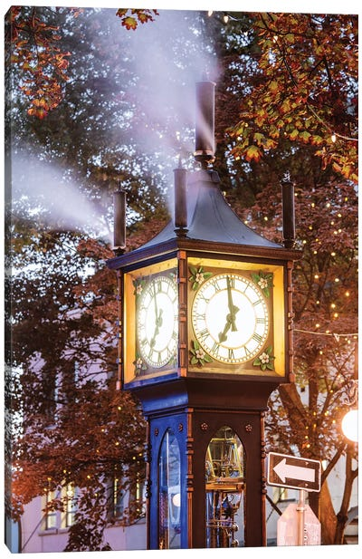 Steam Clock,Vancouver, Canada II Canvas Art Print
