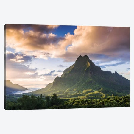 Mount Rotui, Mo'orea, Windward Islands, Society Islands, French Polynesia Canvas Print #TEO63} by Matteo Colombo Canvas Art