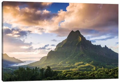 Mount Rotui, Mo'orea, Windward Islands, Society Islands, French Polynesia Canvas Art Print