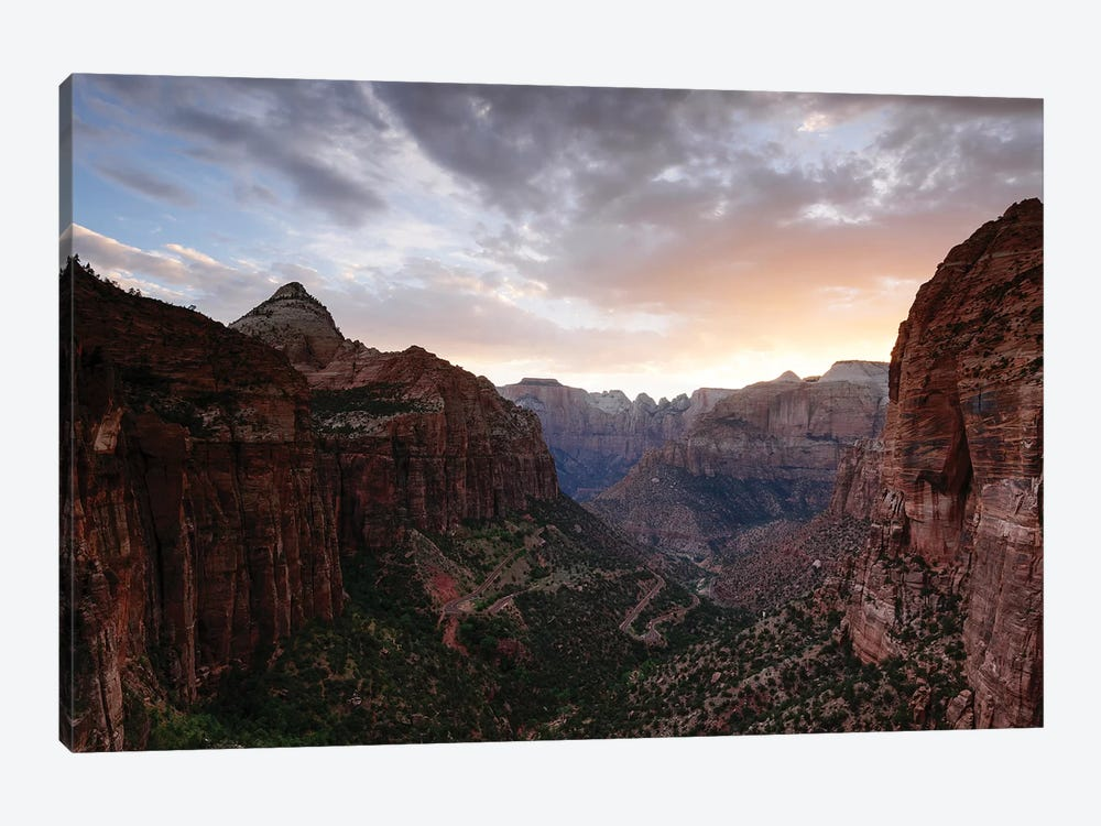 Sunset At Zion Canyon by Matteo Colombo 1-piece Canvas Art