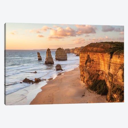 Sunset Over Famous Twelve Apostles, Australia Canvas Print #TEO641} by Matteo Colombo Canvas Art