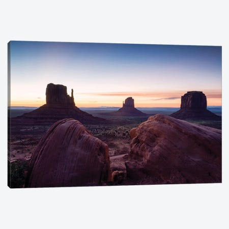 Sunset Over Monument Valley, Arizona Canvas Print #TEO642} by Matteo Colombo Canvas Wall Art