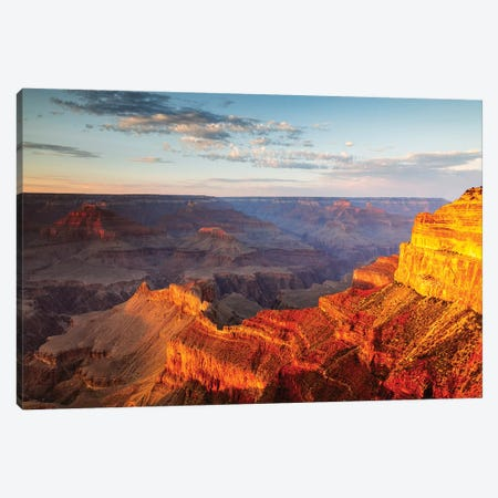 Sunset Over The South Rim, Grand Canyon II Canvas Print #TEO645} by Matteo Colombo Canvas Art Print