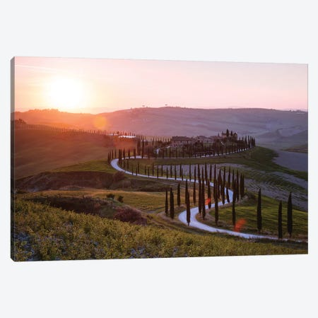Sunset Over Tuscany Hills Canvas Print #TEO646} by Matteo Colombo Canvas Print