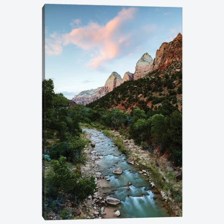 Sunset Over Virgin River, Zion Canvas Print #TEO648} by Matteo Colombo Canvas Artwork