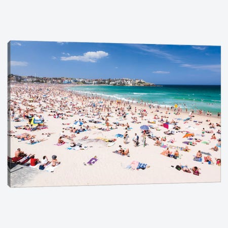 New Year's Day, Bondi Beach, Sydney, New South Wales, Australia Canvas Print #TEO64} by Matteo Colombo Canvas Art Print