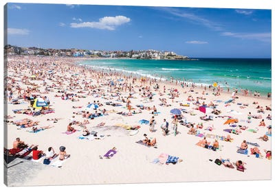 New Year's Day, Bondi Beach, Sydney, New South Wales, Australia Canvas Art Print