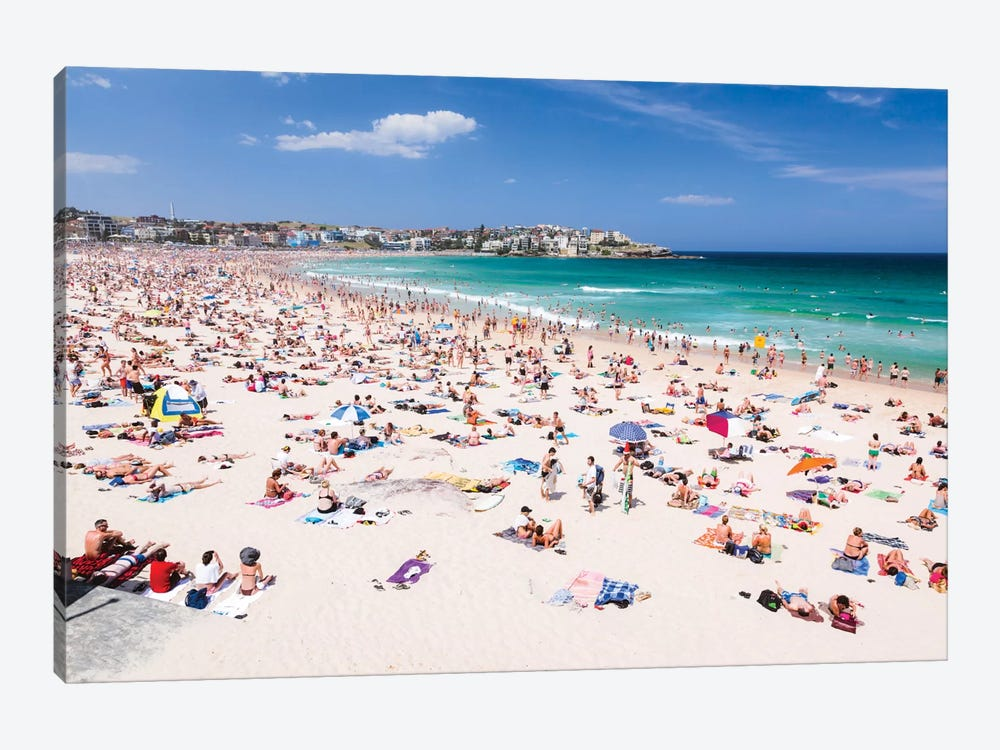 New Year's Day, Bondi Beach, Sydney, New South Wales, Australia by Matteo Colombo 1-piece Canvas Art