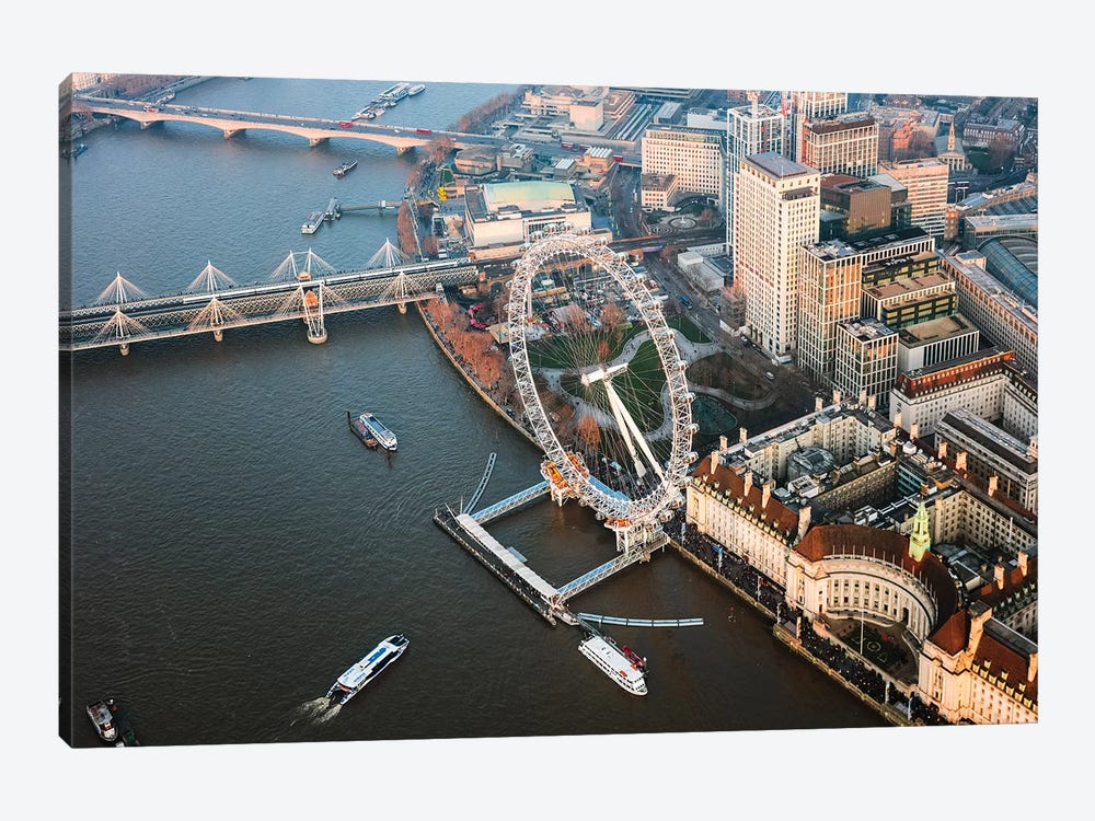 The London Eye, London, United Kingdom by Matteo Colombo 1-piece Art Print