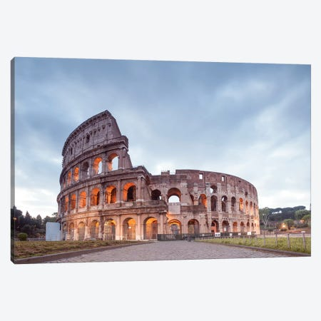 The Mighty Colosseum Canvas Print #TEO651} by Matteo Colombo Canvas Print