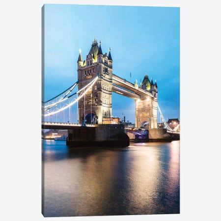 Tower Bridge At Night, London, UK I Canvas Print #TEO658} by Matteo Colombo Art Print