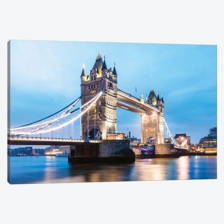 Tower Bridge At Night, London, UK II Canvas Print #TEO659} by Matteo Colombo Canvas Print