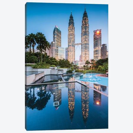 Twin Towers Reflection, Kuala Lumpur I Canvas Print #TEO663} by Matteo Colombo Canvas Art