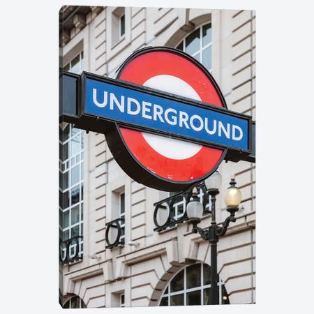 Underground, London, UK 3-Piece Canvas #TEO664} by Matteo Colombo Canvas Art Print