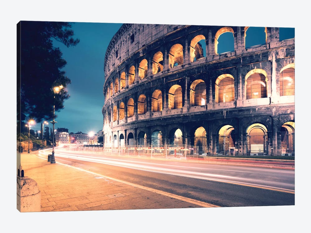 Night At The Colosseum, Rome, Lazio, Italy by Matteo Colombo 1-piece Canvas Artwork