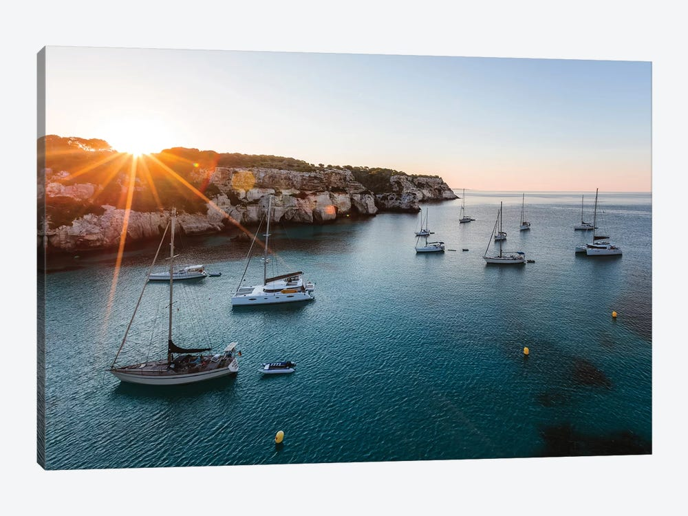 Yachts In The Mediterranean Sea by Matteo Colombo 1-piece Canvas Print