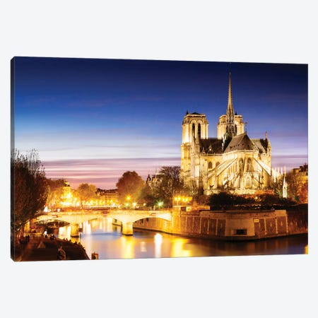 Notre-Dame de Paris (Notre-Dame Cathedral), Paris, Ile-de-France, France Canvas Print #TEO67} by Matteo Colombo Canvas Art Print