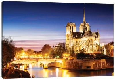 Notre-Dame de Paris (Notre-Dame Cathedral), Paris, Ile-de-France, France Canvas Print #TEO67