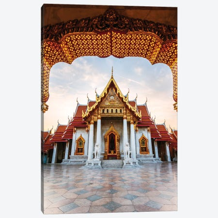 The Marble temple in Bangkok Canvas Print #TEO680} by Matteo Colombo Canvas Art