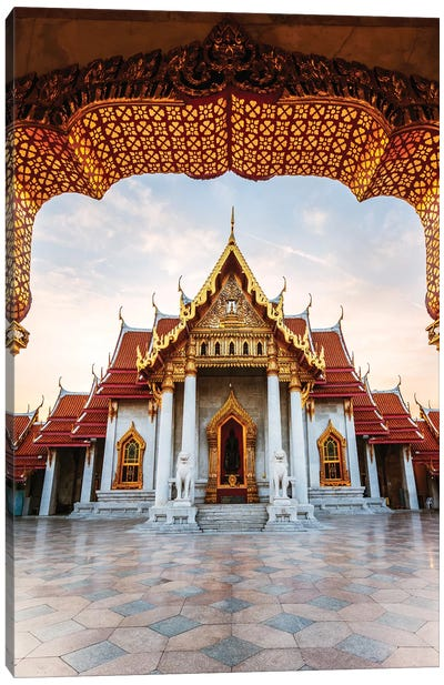 The Marble temple in Bangkok Canvas Art Print