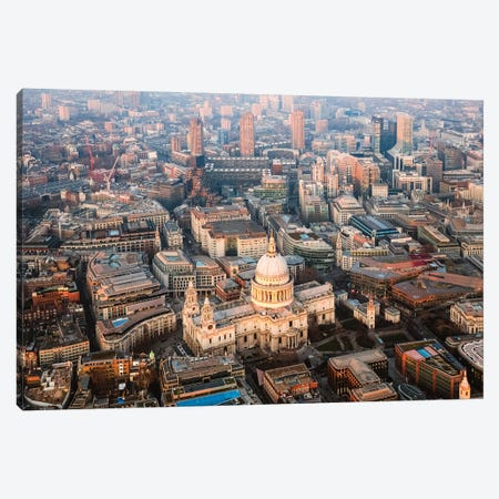 St. Paul's Cathedral From The Top Canvas Print #TEO682} by Matteo Colombo Canvas Wall Art