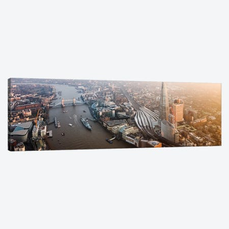 London Aerial Panoramic Canvas Print #TEO684} by Matteo Colombo Canvas Print