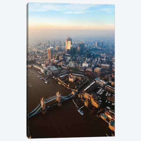 Tower Bridge And The City Of London Canvas Print #TEO686} by Matteo Colombo Canvas Art Print
